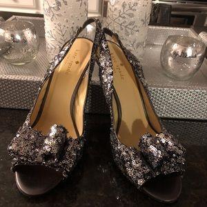 Kate Spade Charm Slingback Pump Silver Glitter (7)